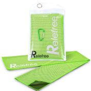 Relefree Cooling Towels Sports Instant Quick Cool Towel Neck Wrap, Absorbent, Reusable Towel with Waterproof Bag & Climbing Clip for Golf, Yoga,Camping, Workouts,Travelling ,Hiking