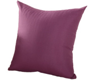 JUNGEN Square Pillowcase Cushion Cover for Home Office Bar Sofa Decoration Pure Colour Dark Purple