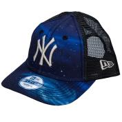 New Era Kids New York Yankees Galaxy 9forty Trucker Cap In Navy - One Size