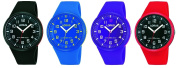 Lorus Resin Strap Mens Womens Childrens Watch Black, Blue, Red, Purple