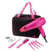 Lee Stafford Blow Dry And Go Hair Kit - Professional Style On The Go - High