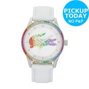 Lacoste Ladies' Victoria White Strap Watch.