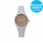 Ice-watch Ladies Glitter Dial White Silicone Strap Watch -from Argos On