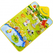 Wenasi Kids Baby Animal Musical Touch Play Singing Carpet Mat Toy Animal Playmat Farm Activity Toys