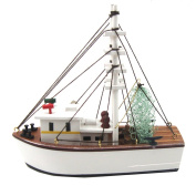 Wood Nautical 16cm Fully Assembled Shrimp Fishing Boat