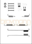 Brake Shoe Fitting Kit Bba6011 Braymann Genuine Top Quality Replacement New