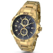 Accurist Chronograph Gold Plated Mens Watch 7025