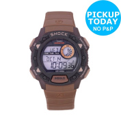 Timex Men's Expedition Shock Resistant Brown Strap Watch. From Argos On