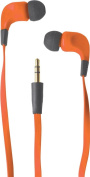 Soundlab Ribbon Type Digital Stereo Earphones With Anti-tangle Cable - Orange