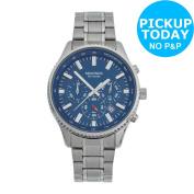 Sekonda Men's Chronograph Scratch Resistant Bracelet Analogue Watch - Silver.