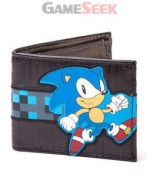 Sega Sonic The Hedgehog Running Bi-fold Wallet, Black