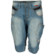 Mens Crosshatch Prius Denim Shorts In Blue - 80cm From Get The Label