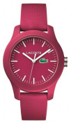 Lacoste Unisex Pink Rubber Strap Pink Dial 2000957 Watch - 6% Off!