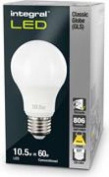 Integral Classic Globe (gls) 10.5w 2700k E27 Dimmable Led Lamp