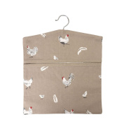 Dexam Rushbrookes Pecking Order Peg Bag Stone. Shipping Included