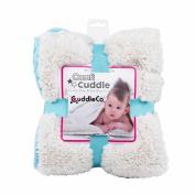 Comfi Cuddle Reversible Baby Blanket Super Soft -tiffany Blue Turquiose