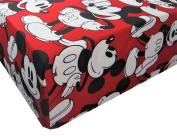 Mickey Mouse Cheerful Mickey 100% Microfiber (FITTED SHEET ONLY) Size TWIN Boys Girls Kids Bedding