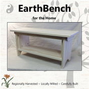 Deluxe Children's Personal Sitting Bench (70cm ×28cm ×33cm tall) UNFINISHED PINE - Made in the USA