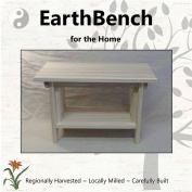 Deluxe Children's Personal Sitting Bench (50cm ×28cm ×33cm tall) UNFINISHED PINE - Made in the USA