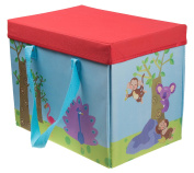Kid's Combination Jungle Play Mat and Collapsible Toy Storage Organiser - 24cm x 27cm x 35cm