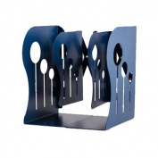 Metal Bookends Fashion Retractable Metal Bookends Iron Stationery Portable Library School Office Supply