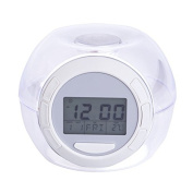 Margoth 7-colour Changing Lights Nature Sounds LED Digital Alarm Snooze Clock with Thermometer & Timer