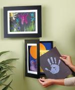 Set of 2 Easy Change Artwork Frame - Black - 1 Frame Fits 23cm x 30cm Artwork. F...