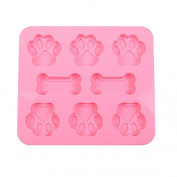 Vibola New 3D Dog Foot And Bone Silicone Ice Cube Chocolate Cake Cookie Soap Mould Mould DIY Creative Big Ice Cube