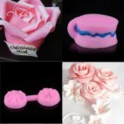 Vibola New Silicone 3D Cute Rose Flower Fondant Cake Decorating Tools Sugarcraft Silicone Cake Mould Kitchen Baking Gumpaste Chocolate Moulds