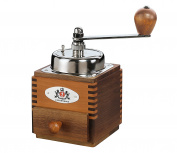 "Zassenhaus ""Montevideo"" Walnut and Pear Wood Manual Coffee Mill"