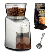 Capresso 565 Infinity Stainless Steel Conical Burr Grinder with Grand Aroma Whole Bean Coffee (260ml) Swiss Roast Regular and Coffee Measure