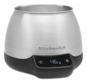 KitchenAid KCG0799SX Digital Scale Jar Burr Grinder Accessory, Brushed Stainless Steel