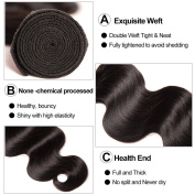 Brazilian Virgin Hair Extension 4 Bundles with Lace Closure Thick and Soft Unprocessed Human Hair Weave 20 22 24 26+18