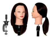 HairZtar 100% Human Hair 50cm - 50cm Mannequin Head Hairdresser Training Head Manikin Cosmetology Doll Head