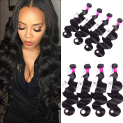 8A Brazilian Virgin Hair Extension Body Wave 4 Bundles 20 20 22 60cm 400G Unprocessed Human Hair Weaves Brazilian Hair Bundles Body Wave