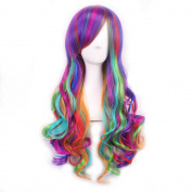 Yesui Long Wavy Multi-Colour Lolita Cosplay Party Wig Synthenic Heat Resistant Curly Wigs