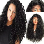 MG Wig loose curly wig synthetic lace front wig with baby hair natural look