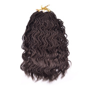 Wanya 36cm Curly Senegalese Twist Synthetic Braiding Hair Extensions 35 Roots/pec Ombre Crochet Braids Hair
