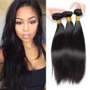 Brazilian Straight Virgin hair 3 Bundles 100% Unprocessed Hair Weave Silky Straight Weft Extensions Natural Colour