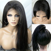 Synthetic Lace Front Wigs with Baby Hair Straight for African American Heat Resistant Fibre Hair Density 150%