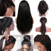 WY Wigs Silky Straight Full Lace Wigs Human Hair Wigs for Black Women 150 Density Lace Front Wigs with Baby Hair
