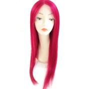 Red Long Straight Lace Front Wig Glueless Full Lace Human Hair Wigs for Women 130% Density