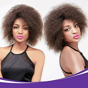 99J Burgundy Synthetic Short Curly Afro Wig kanekalon African American Super Fluffy Wigs For Black Women 17cm