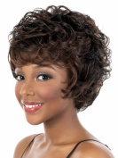 YX Women Curly Short Brown Fashion Wigs Kanekalon Fibre Heat Resistant Synthetic Wigs