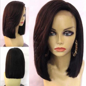 Short Bob Human Hair Wigs for Black Women Bob Lace Front Wig Brazilian Glueless Short Bob Straight Wig