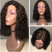 Narural Wave Lace Front Wig Human Hair for Black Women Middle Part Short Wavy Lace Front Human Hair Bob Wig With Baby Hair