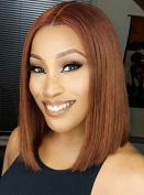 Short Bob Human Hair Lace Front Wigs Brazilian Virgin Glueless Silk Straight Hair Wigs with Baby Hair for Black Women 30 Colour
