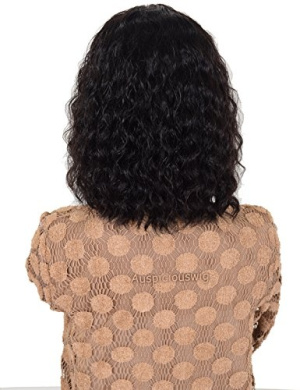 Auspiciouswig Short Curly Afro Human Hair Glueless Full Lace Front Wigs for Black Women (lace front wig)