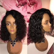 Short Curly Wigs for Black Women Human Hair Lace Front Wig Curly Brazilian Hair Wig With Baby Hair