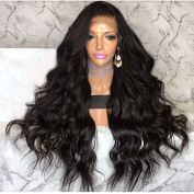 Long Natural Wavy Lace Front Wig With 100% Best Brazilian Remy Human Hair For Women